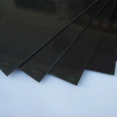 200×300×0.5mm With 100% Real Carbon Fiber plate/panel/sheet 3K plain weave LD