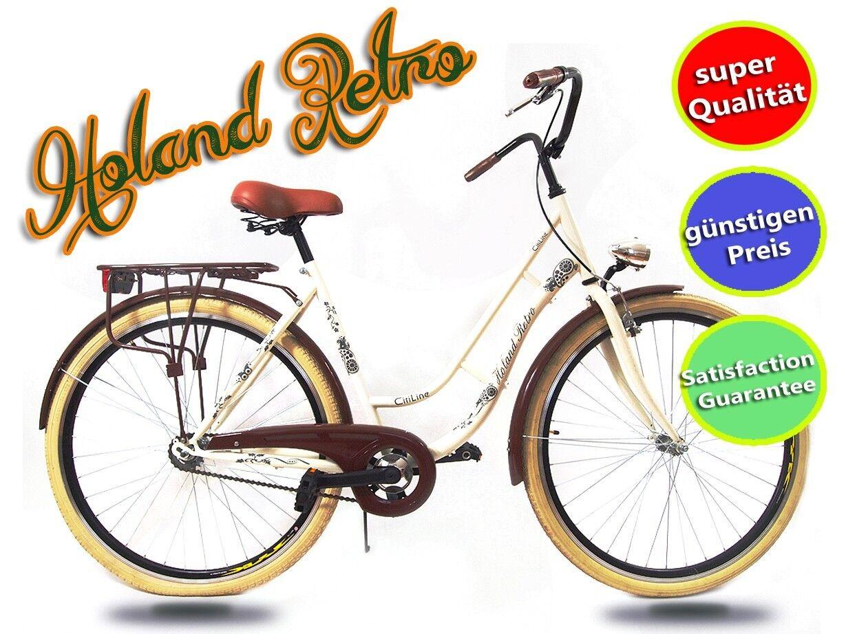 """28"""" pulgadas señora bicicleta retro citybike cityrad cityrad cityrad he rojo ada crema vintage -20% nuevo  tienda de bajo costo"""