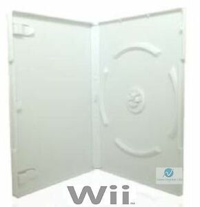 100-Nintendo-WII-Video-Game-Case-High-Quality-White-Replacement-Cover-Amaray