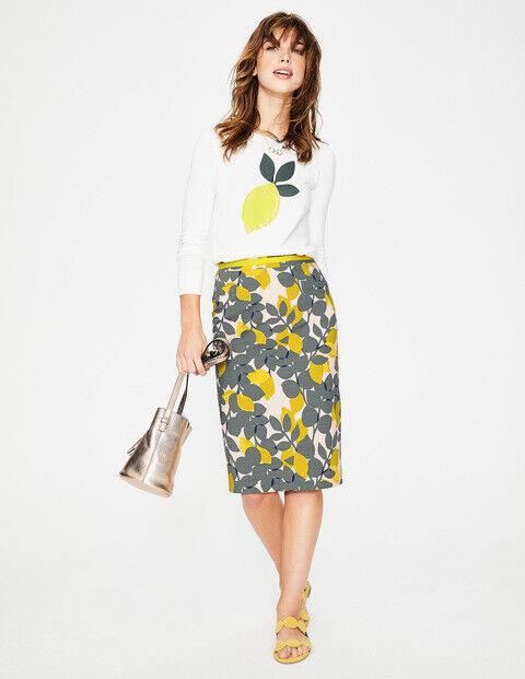 Boden MODERN PENCIL SKIRT Green Lemon Size US 6 Style  T0135