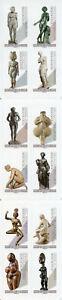 FRANCIA-2019-Gomma-integra-non-linguellato-Art-Nude-sculture-EDGAR-DEGAS-12v-S-un-opuscolo-nudi