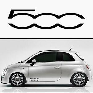for fiat 500 x 2 door vinyl car decal stickers adhesive 300mm long ebay. Black Bedroom Furniture Sets. Home Design Ideas