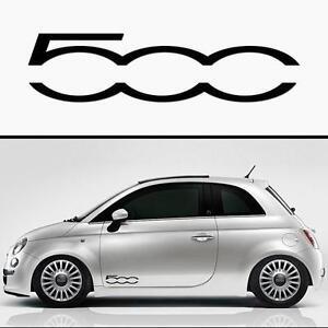 For Fiat 500 X 2 Door Vinyl Car Decal Stickers Adhesive 300mm