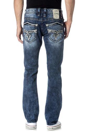 Men/'s Rock Revival Ignacia ALT STRAIGHT Leg Denim Blue JEAN Sz 36 /& 38 NWT