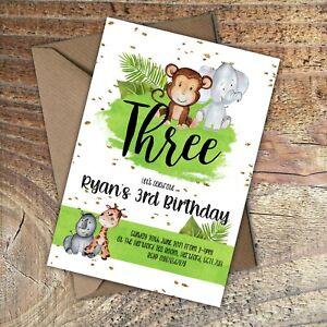 BIRTHDAY-INVITATIONS-Cute-Animals-Personalised-Any-age-PK-10