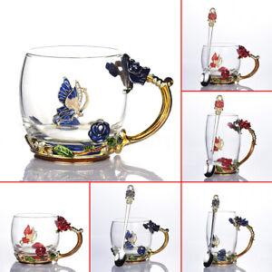 Handmade-Crystal-Enamel-Flower-Glass-Tea-Cup-Coffee-Mugs-Gift-Box-Home-Decor
