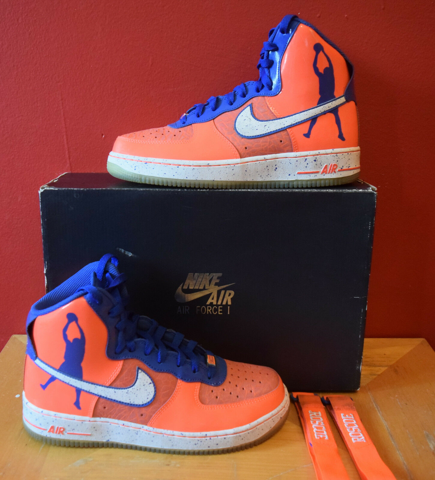 Nike Air Force 1 Hi CMFT PRM Sz 8.5 Sheed Rasheed Wallace Knicks NY 624185 800