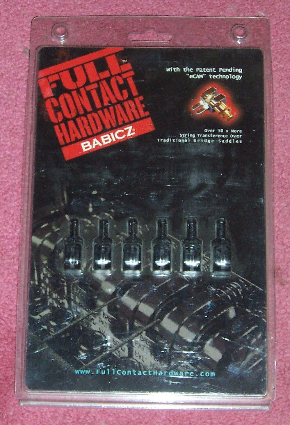 Full Contact Hardware by Babicz Guitars .. Saddle Set in schwarz finish