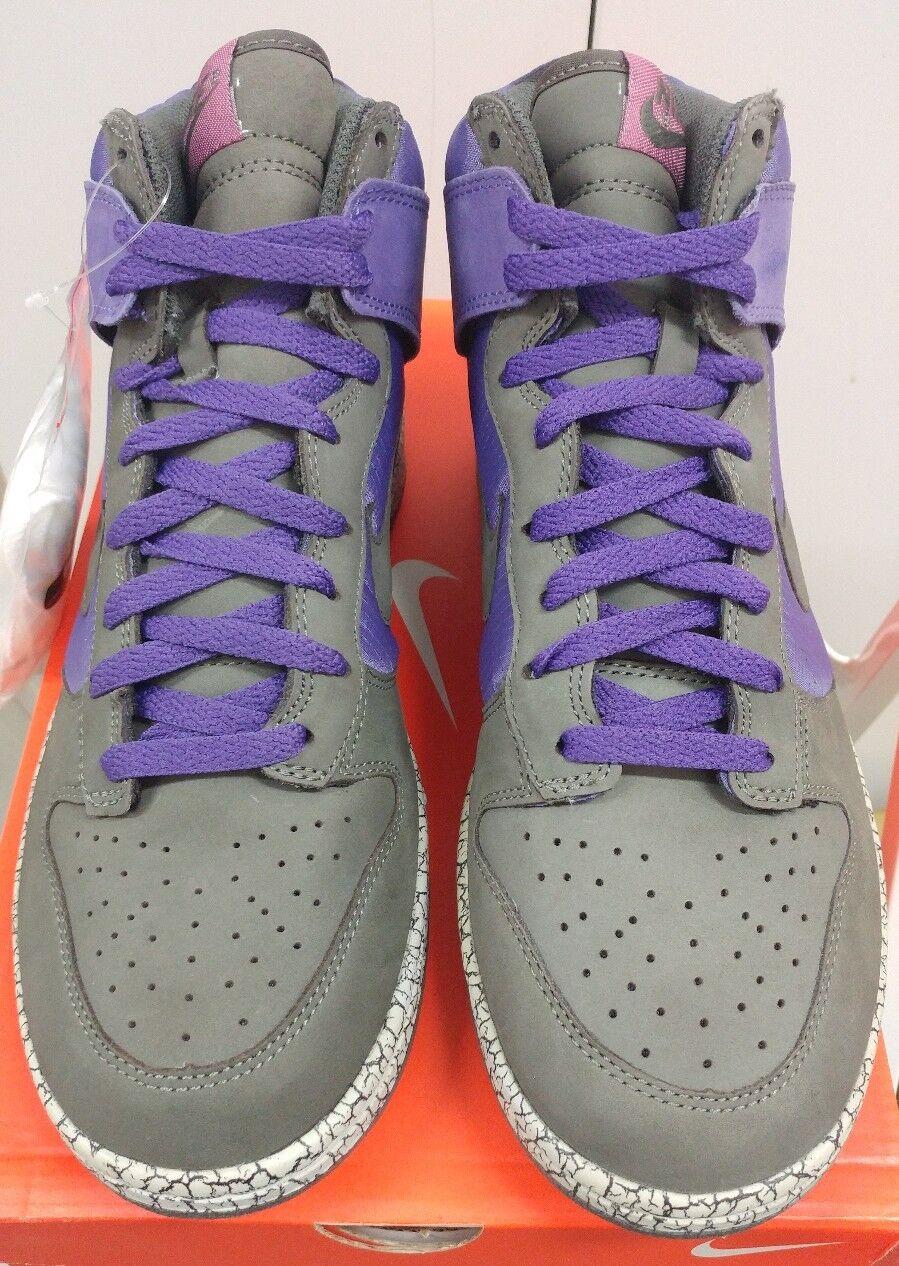 2007 Nike Dunk Men shoes High Purple Quake Newsprint Earthquake 306968 501 9.5