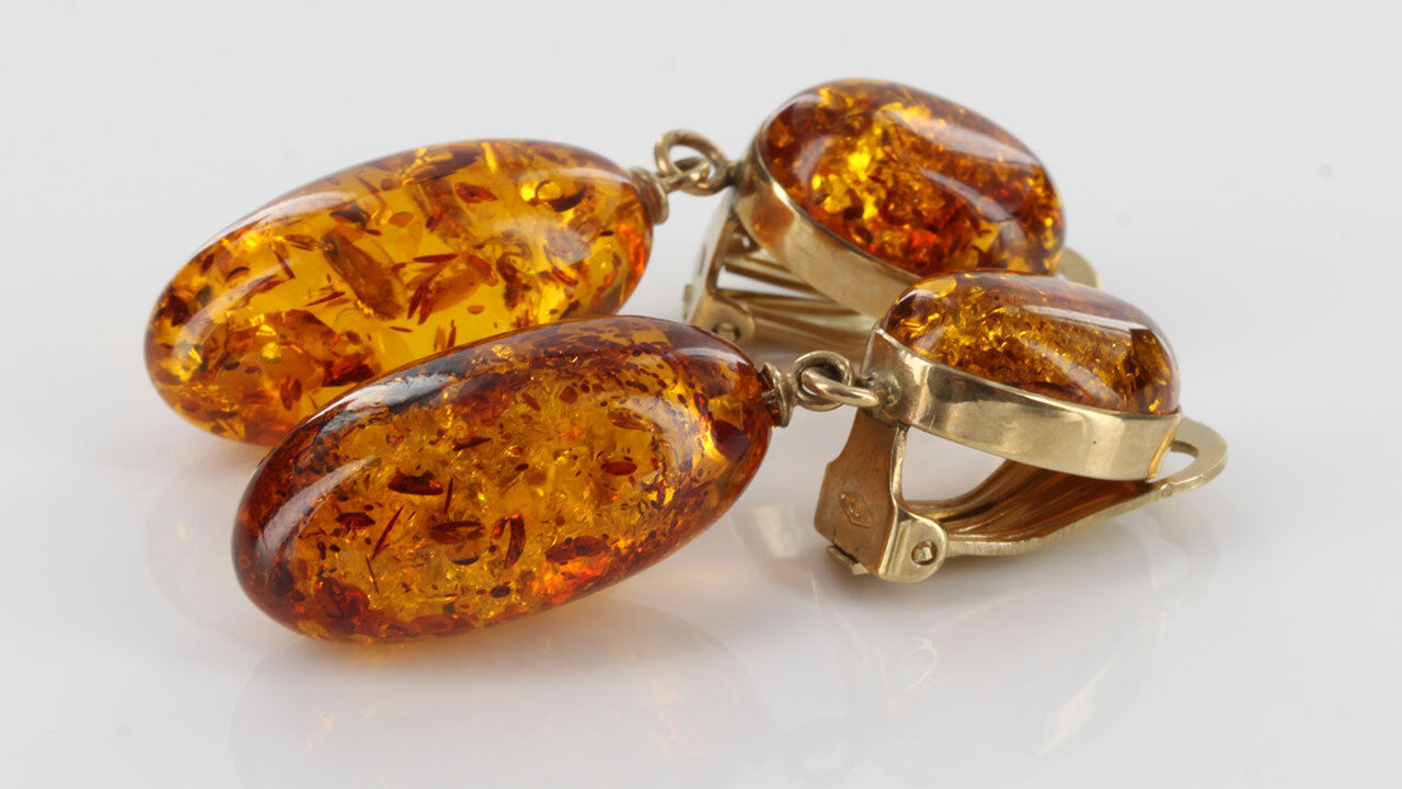 ITALIANA Fatto a Mano Baltic Baltic Baltic Amber Drop CLIP in oro 9 CT GCL0024 prezzo consigliato 263a93