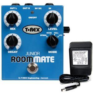 T-Rex-Room-Mate-Junior-4-Mode-Reverb-pedal-w-9v-power-supply
