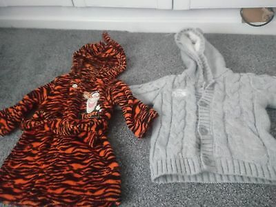 Special Section Winnie The Pooh/tigger Baby Boys Dressing Gown & Jackets Aged 9-12 Latest Technology Baby Baby Bathing/grooming