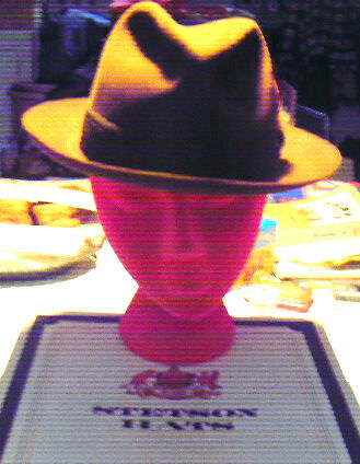 vintage stetson fedora in Org. Box chocolate brown size 7 with brass stetson pin