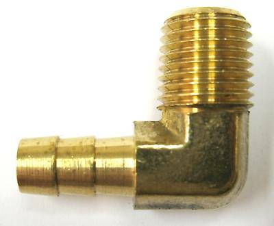 1pc Brass Pipe Male 90 Deg Elbow Fitting 1//2 NPT Fuel MettleAir 99-D