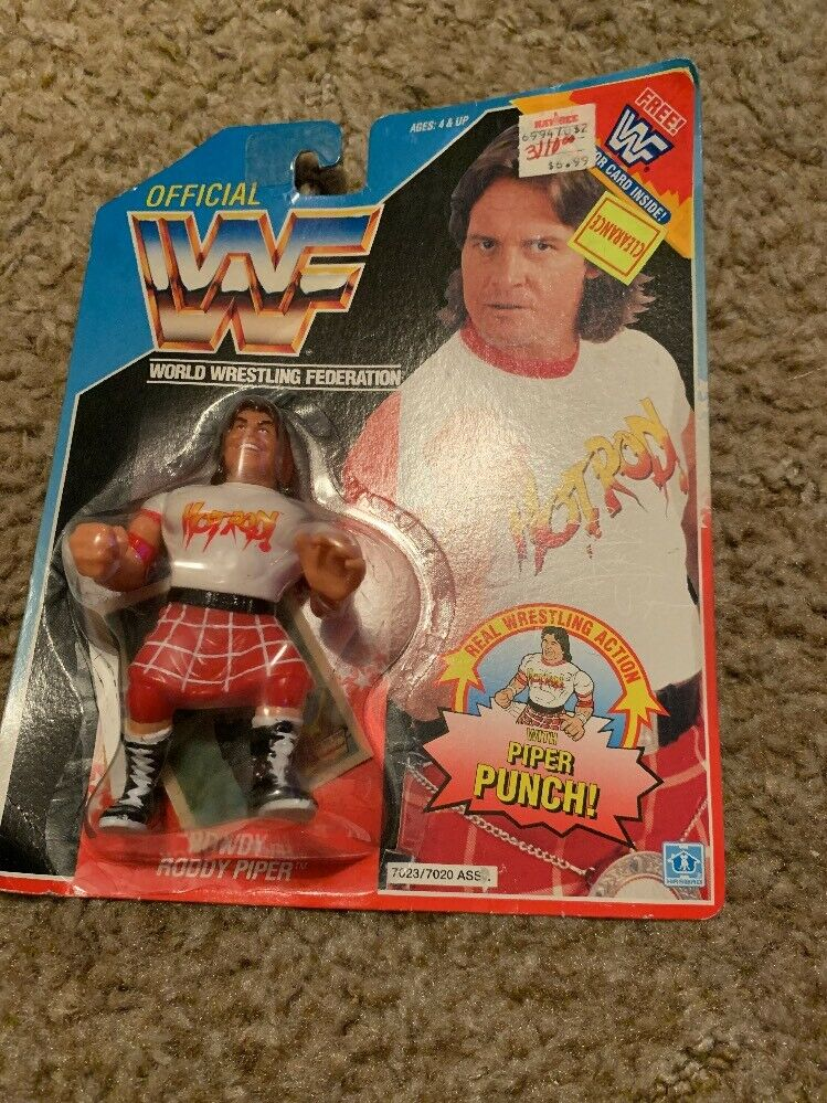 WWF Hasbro Rowdy Roddy Piper WWE Wrestling Figure w  Card inside New SEALED