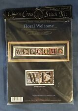 Classic Cross Stitch Kit Cross My Heart FLORAL WELCOME CSBK-134-2