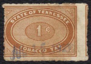 1c Tennessee Tabaco Impuestos, Usado [1] Cualquier 5=