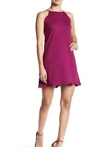 60be0f2d26f0 NWT  108 Love Ady Womens magent Purple Scalloped Trim Shift Dress ...