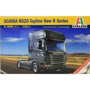 Italeri Kit 1:24 Camion Scania R620 Topline Nouvelle Série R 24,7 cm Art 3858
