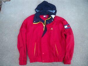 a8cb8b522a9f4 Vintage 90S TOMMY HILFIGER Color Block With Patch Coat Jacket Men s ...