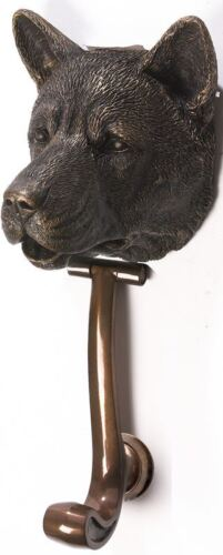 Akita Pedigree Door Knocker - Cold Cast Resin