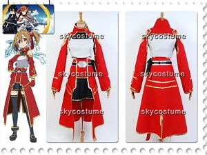 Sword-Art-Online-SAO-Cait-Sith-Dress-Silica-Keiko-Ayano-Cosplay-Costume