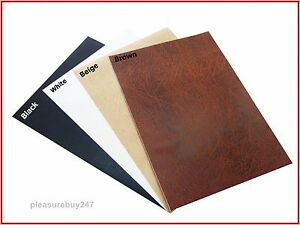 Leather a4 sheet self adhesive sticky back vinyl craft for Leather sheets for crafting