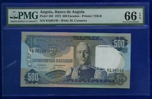 Angola-500-Escudos-1972-P102-GEM-UNCIRCULATED-PMG66