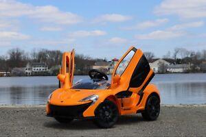 Mclaren P1 Orange >> Details About Mclaren P1 Orange 12v Dual Motor Electric Power Ride On Car With Remote Control