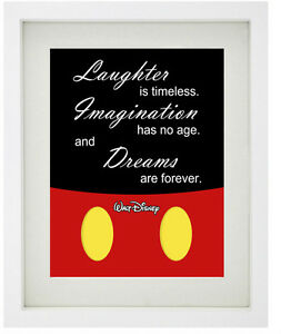 Image Is Loading MICKEY MOUSE MINIMALIST Famous Disney Quote Framed Print