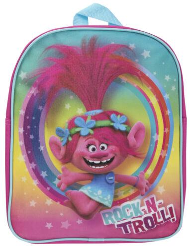Trolls Glitter Backpack Princess Poppy Rainbow School Lunch Book Bag Travel