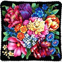 Dimensions Needlepoint Kit 14 X 14 Pillow Floral Splendor 72-120011 Sale