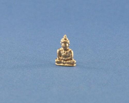 1//12 Scale Dollhouse Miniature Gold Buddha Statue//Figurine #JLM128