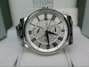 Swiss-Titoni-Master-Series-GMT-Automatic-Power-Reserve-Chronometer-Mens-Watch