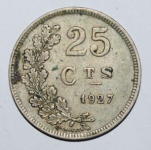 Luxemboug/luxembourg: 25 Centimes Cts Coin Depuis 1927. Collection Grade. Rare!-afficher Le Titre D'origine Cool En éTé Et Chaud En Hiver