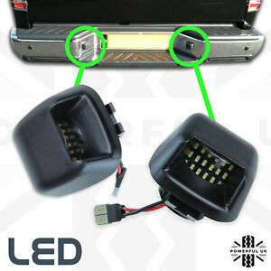 2xLED-Rear-bumper-License-number-plate-lights-for-Nissan-Navara-D40-lamp-bulb