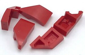 Lego 5 New Red Wedges 2 x 1 with Stud Notch Right Pieces