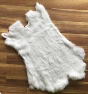 10x-WHITE-Rabbit-Skin-Fur-Pelt-for-crafts-fabric-animal-training-LARP-TR10