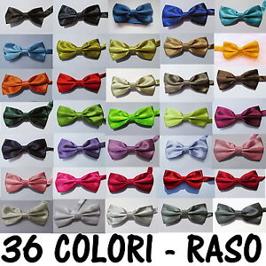 PAPILLON-FARFALLA-SETA-RASO-CRAVATTINO-Uomo-Donna-Papion-Rosso-Blu-Nero-rosa