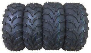 New Full Set 4 ATV Tires 25x8-12 25x8x12 Front & 25x10-12 25x10x12 Rear 6PR Mud
