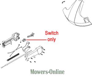 Mitox Trimmer Throttle Switch TBC430S.05.04-00 26LH-SP 26MT-SP 25C-SP 26L-SP
