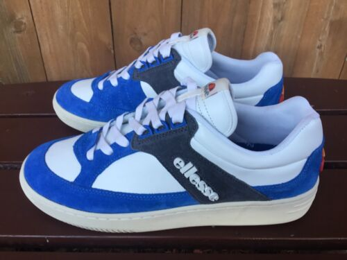 Ellesse Heritage Vinitziana Italy Mens White Blue Suede Shoes Sneakers