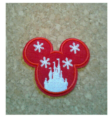 Minnie Mouse World Embroidered Iron On Applique Patch Disneyland Castle