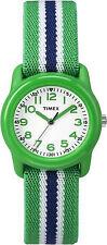 Timex TW7C06000, Kid's Green Striped Nylon Strap Watch, TW7C060009J
