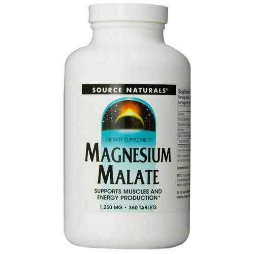 Source Naturals Magnesium Malate 1250mg 360 Tablets For Sale Online Ebay