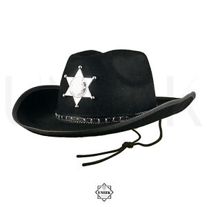 Adult Sheriff Hat - Wild West American Cowboy Police Officer Costume ... b1b934cba05a