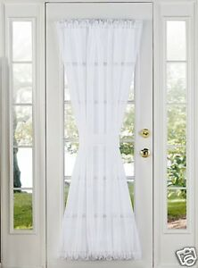 Image Is Loading SHEER VOILE DOOR PANELS CURTAINS FOR FRENCH DOORS