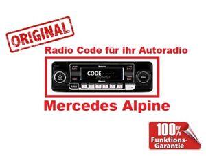 █►Radio Code passend für AUDIO 10 CD MF2910 W168 W126 R107 C107 W124 W414 W123
