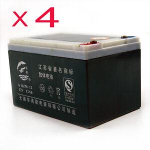 4PACK-12V-12Ah-6-DZM-12-UPS-APC-Scooter-Rechargeable-Battery-GO-Kart-MX500-MX650