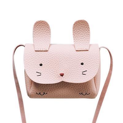 Rabbit Mini Messenger Bag Baby Girl PU Leather Purse Coin Shoulder Crossbody Bag